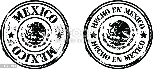 istock Stamps - Made In Mexico 187514533