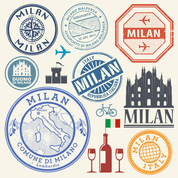 Top 60 Italy Passport Stamp Clip Art, Vector Graphics and ...