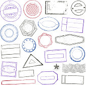 istock Stamps set 482366107
