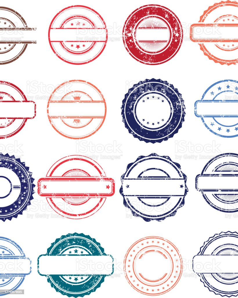 Stamps vector art illustration