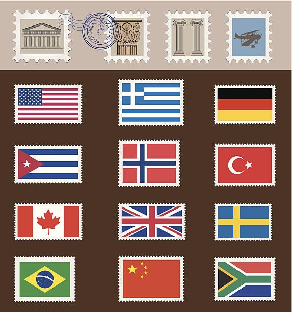 Briefmarken – Vektorgrafik