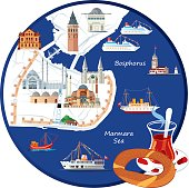 İstanbul Cartoon Map