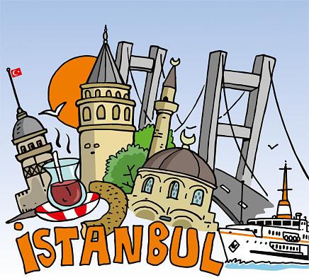 İstanbul illustration drawn
