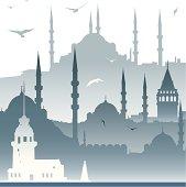 Vector İstanbul Skyline