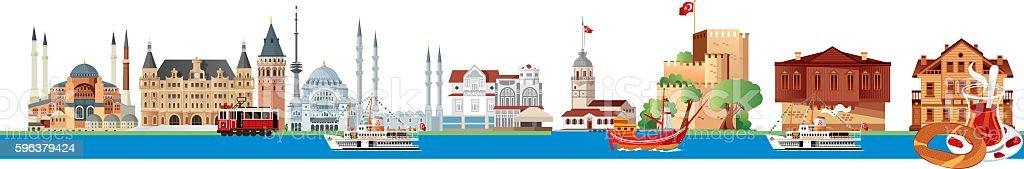 İstanbul Skyline vector art illustration