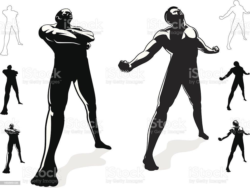 Stance Set royalty-free stock vector art