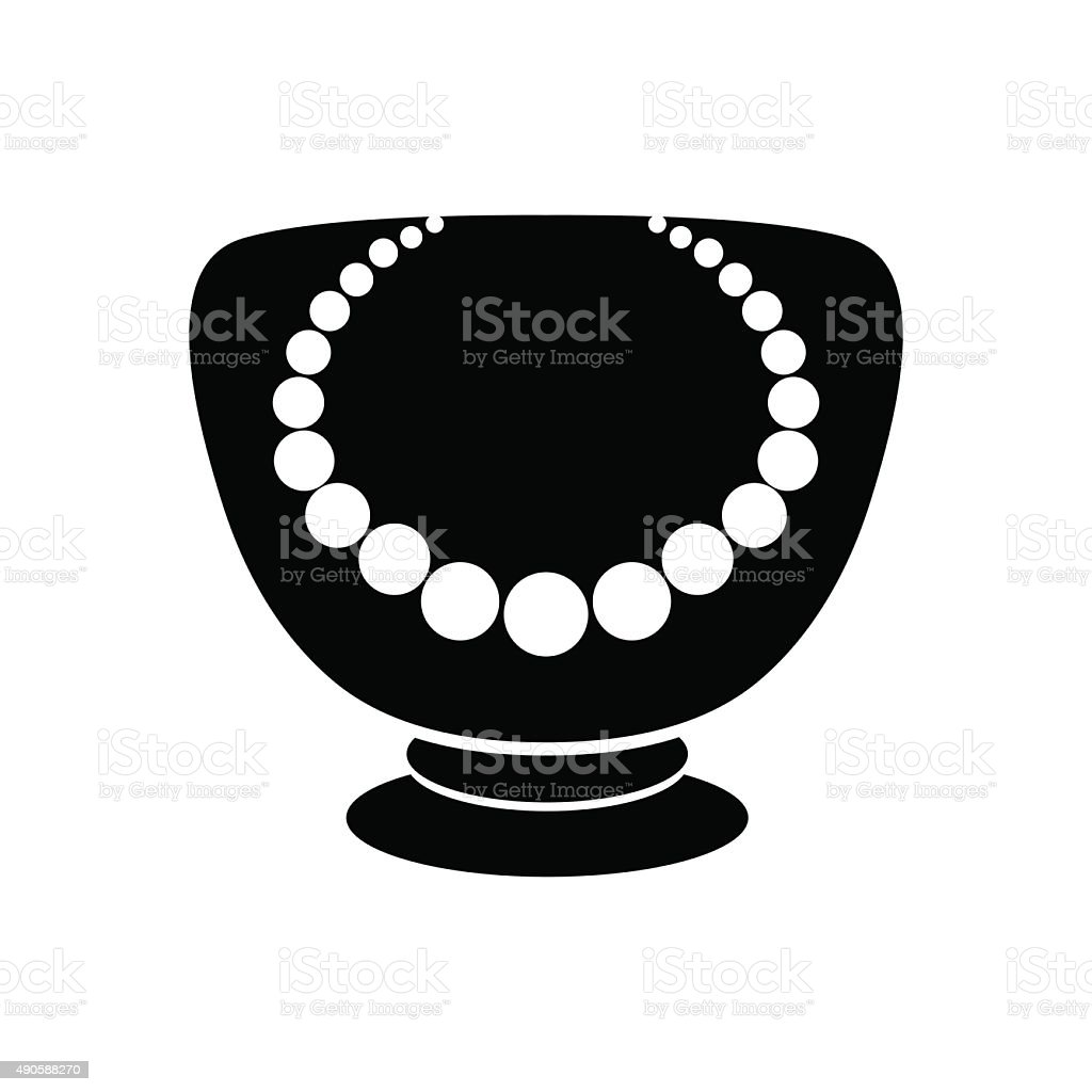Stand for jewelry with pearl necklace mannequin icon stock vector stand for jewelry with pearl necklace mannequin icon royalty free stand for jewelry biocorpaavc