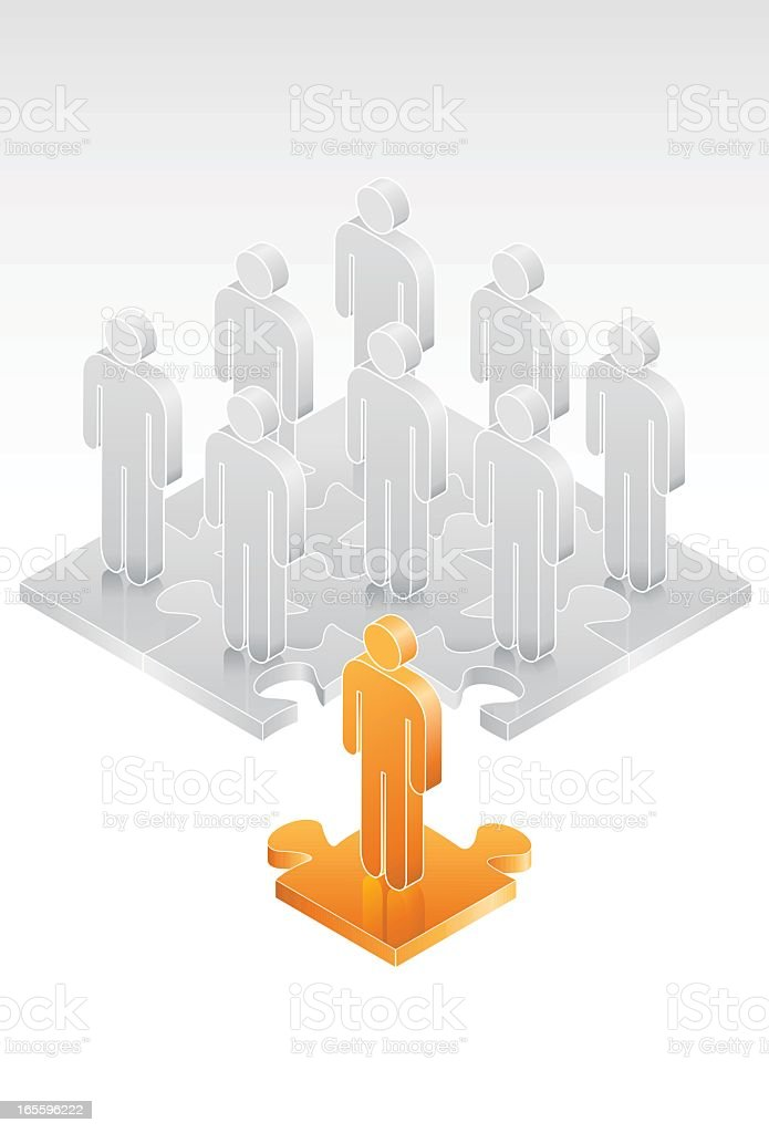 Stand Out from the Crowd royalty-free stand out from the crowd stock vector art & more images of adult