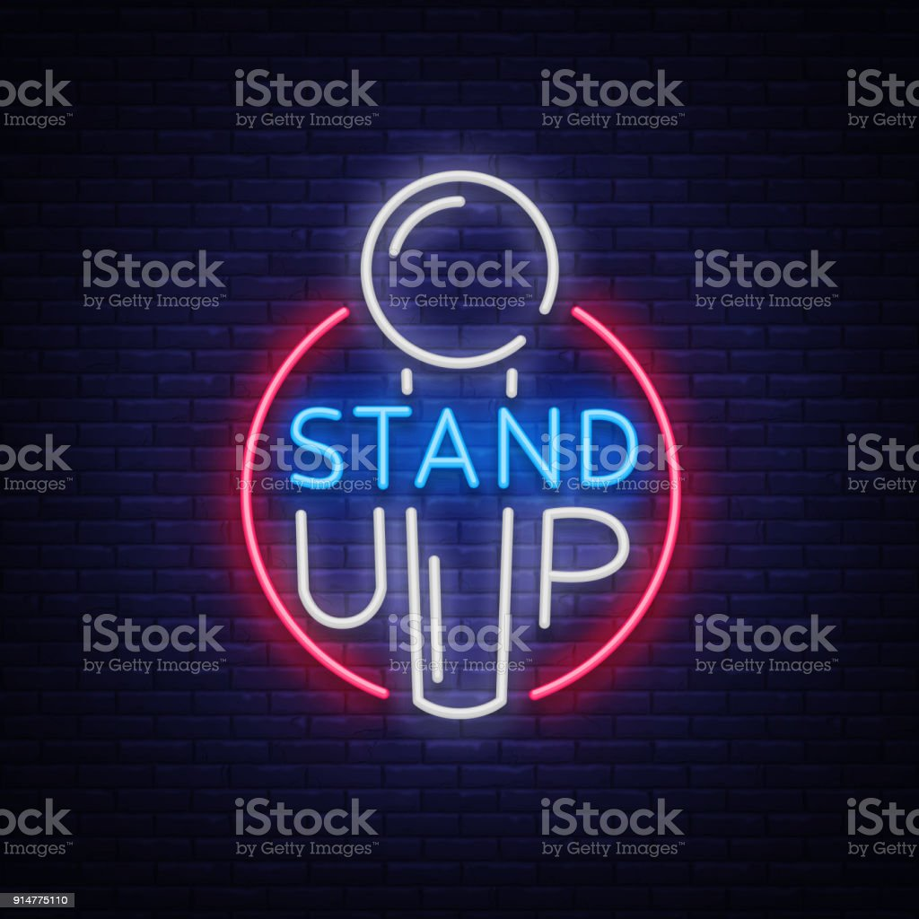 Stand up in neon style comedy show is neon sign symbol an invitation stand up in neon style comedy show is neon sign symbol an invitation stopboris Choice Image