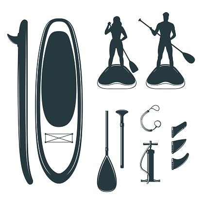 A stand up paddle board design elements