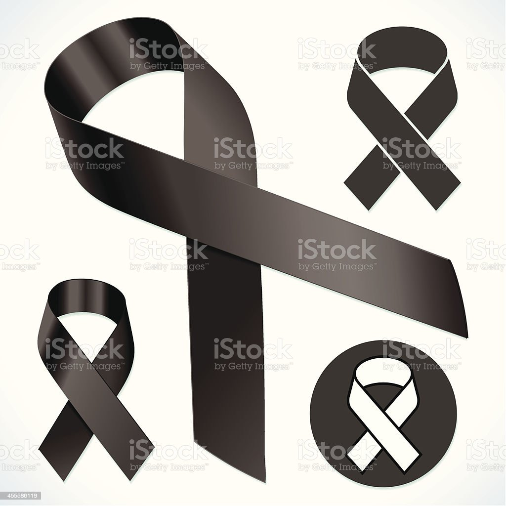 Standard Black Ribbon royalty-free stock vector art