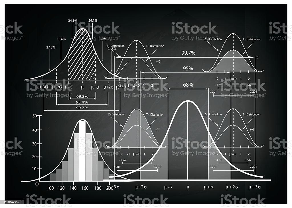 Standard Deviation Diagram with Sample Size Chart vector art illustration