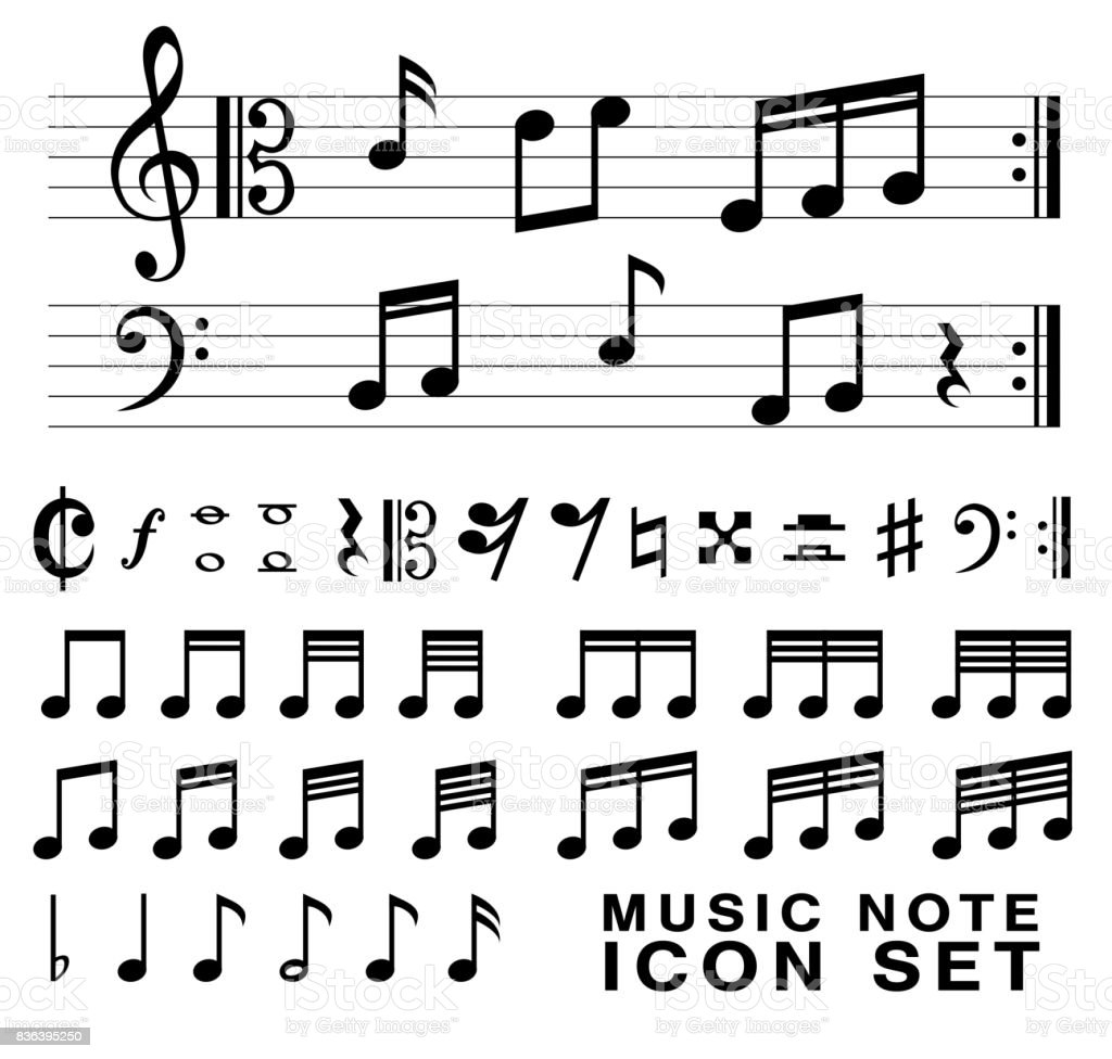 Music notes symbols text image collections symbol and sign ideas music note symbol text choice image symbol and sign ideas standard music notes symbol set vector buycottarizona