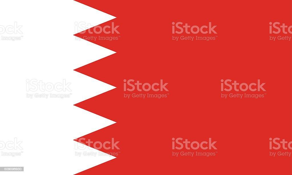 Standard Proportions for Bahrain Flag vector art illustration