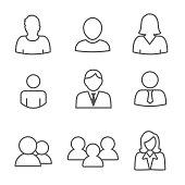 Standard User Icon Set