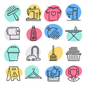 Standards in hospitality industry doodle style concept outline symbols. Line vector icon sets for infographics and web designs.