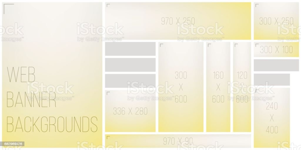 Standart Size Web Banner Color Blend Background Palette royalty-free standart size web banner color blend background palette stock vector art & more images of abstract