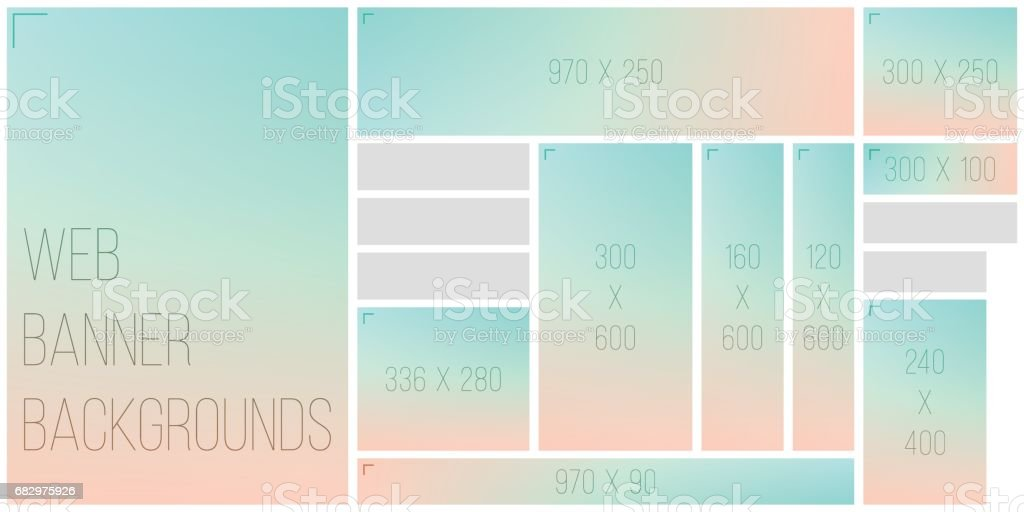 Standart Size Web Banner Color Bokeh Background Palette vector art illustration