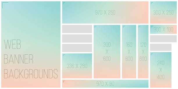 standart size web banner color bokeh background palette - pastel colored stock illustrations, clip art, cartoons, & icons
