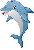 Standing Dolphin cartoon