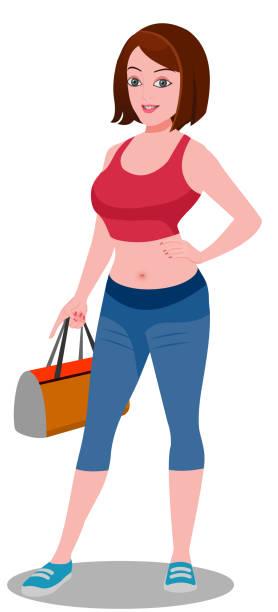 Damen Jeans Ohne Taschen Am Po Stock-Vektoren und
