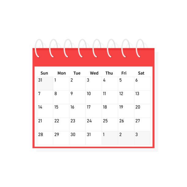 monat-desk-kalender-vorlage-symbol stehen. flache bauweise, vektor-illustration auf hintergrund. - flat icons stock-grafiken, -clipart, -cartoons und -symbole