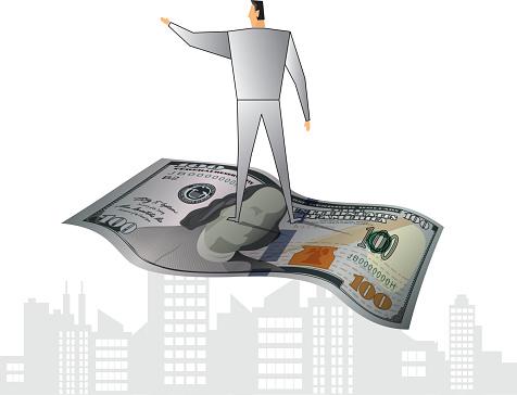 Standing on dollar