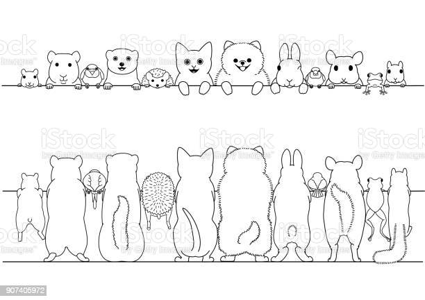Standing pet animals front and back border set vector id907405972?b=1&k=6&m=907405972&s=612x612&h=h1ae4liaarb6 aspws7m9f3pio5o5arhu14q quhgeu=