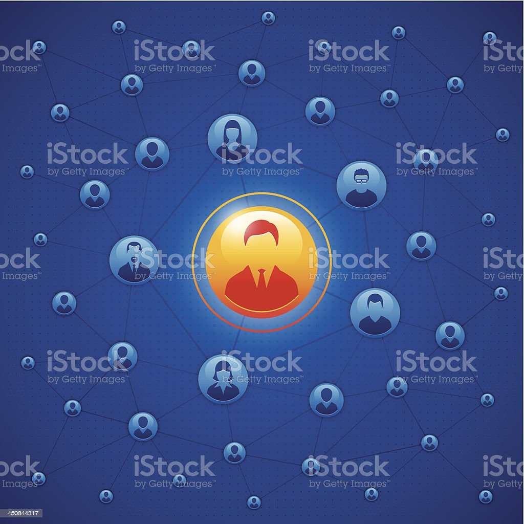 Stands out from the team royalty-free stock vector art