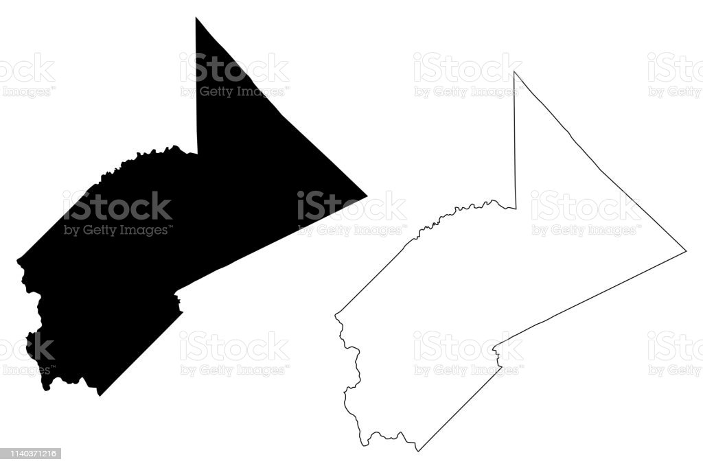 Stanislaus County California Map Vector Stock Illustration