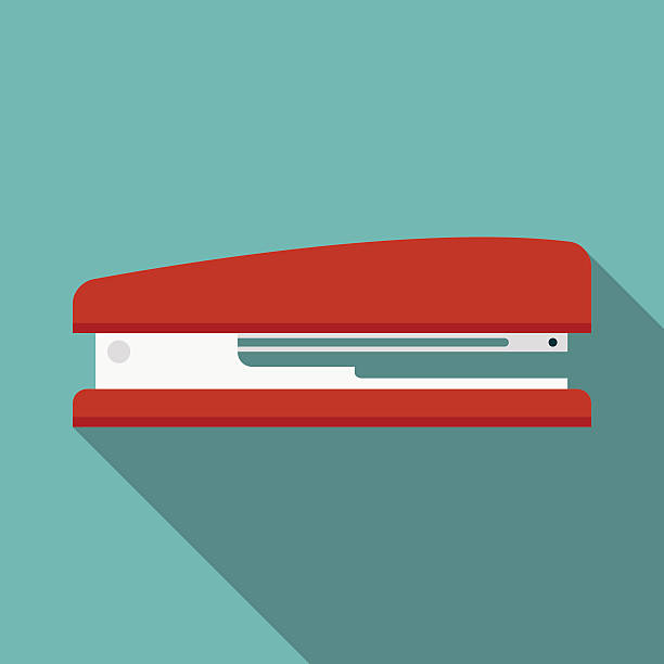 stapler icon witn long shadow. flat style vector illustration stapler icon witn long shadow. flat style vector illustration stapler stock illustrations