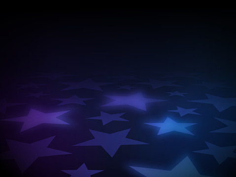 Star abstract glow gradient background.
