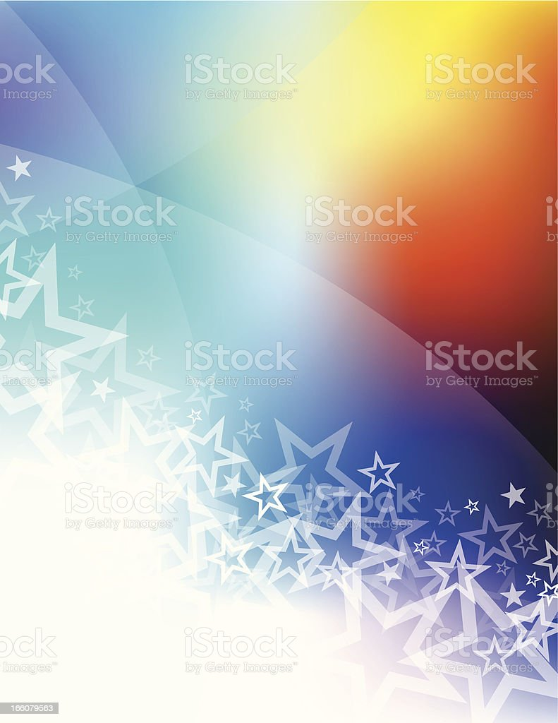Star abstract background royalty-free stock vector art