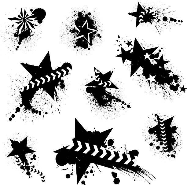 Star i Splatters – artystyczna grafika wektorowa