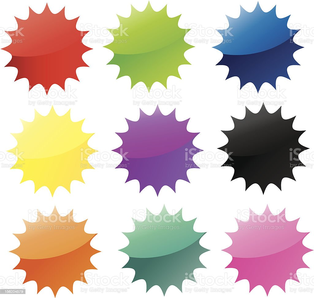 Star Announcement Sticker vector art illustration