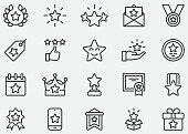Star Award Line Icons