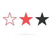 Star Best Icon Vector Illustration. Rating, favourite icons set solid and line symbols. Award rate star. Classic rank
