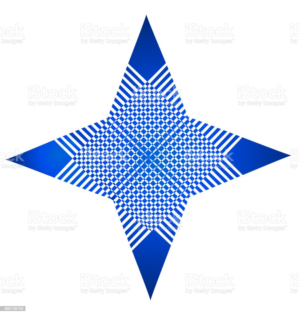 Blauwe sterstructuur abstracte identiteitskaart vector pictogram - Royalty-free Abstract vectorkunst