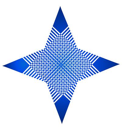 Blauwe Sterstructuur Abstracte Identiteitskaart Vector Pictogram Stockvectorkunst en meer beelden van Abstract