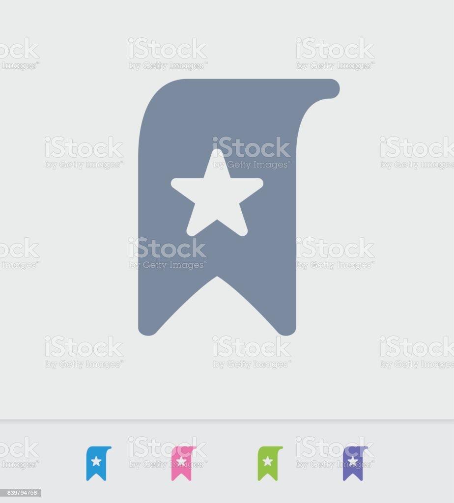 Star Bookmark - Granite Icons vector art illustration