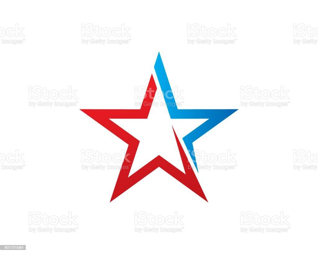 Star Brand Symbol Template Design Vector Emblem Design Concept