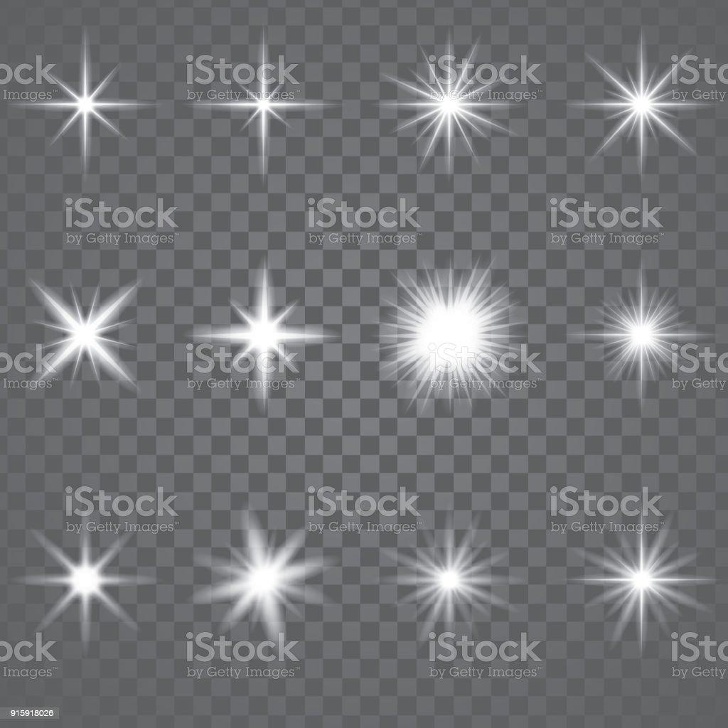 Star Burst Sparkling Light - Векторная графика Абстрактный роялти-фри