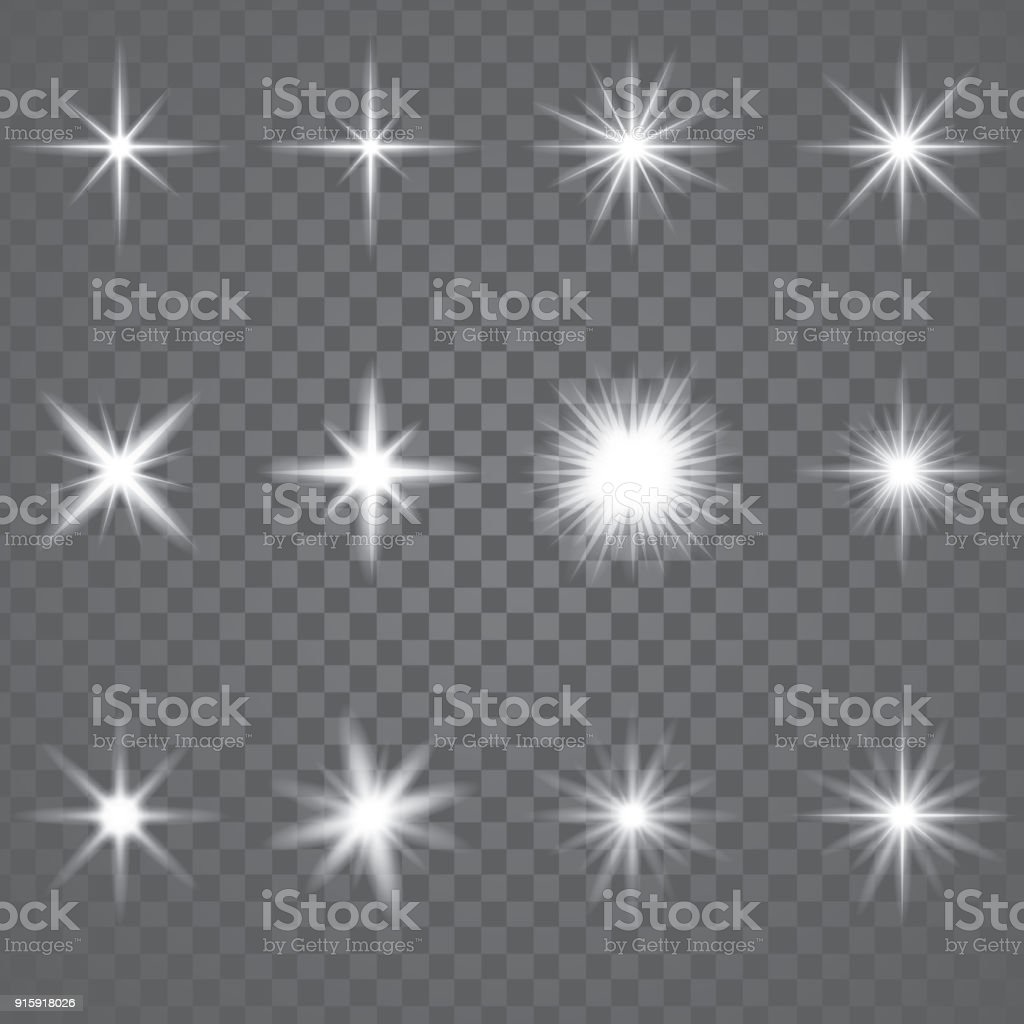 Star Burst Sparkling Light vector art illustration