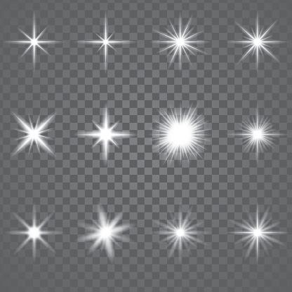 Star Burst Sparkling Light — стоковая векторная графика и другие изображения на тему Абстрактный