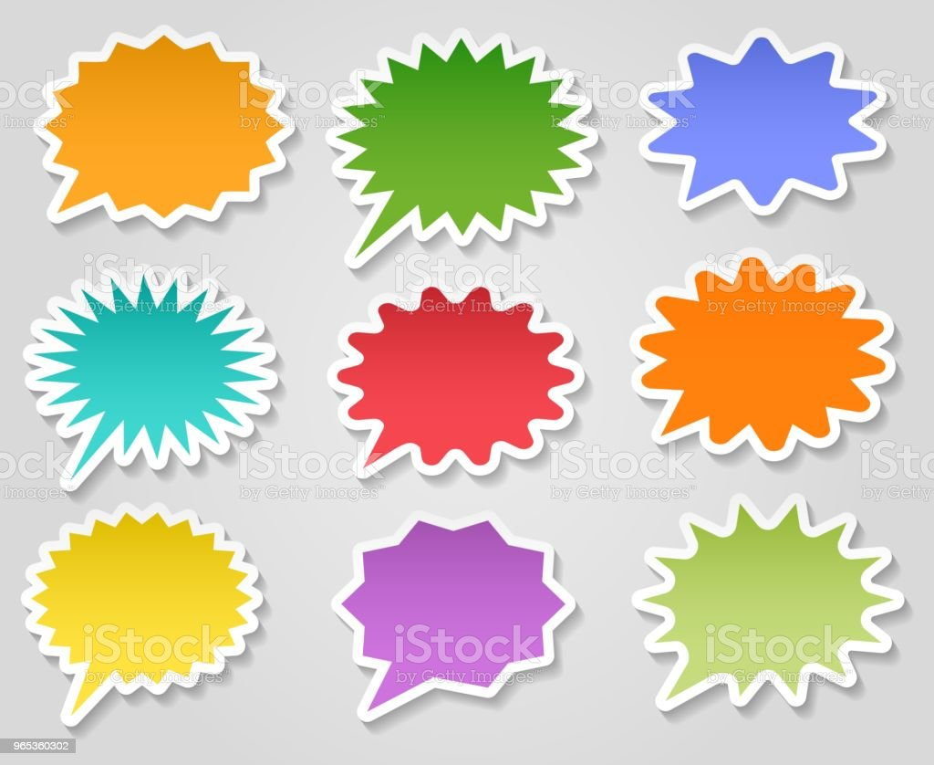 Star burst stickers set royalty-free star burst stickers set stock vector art & more images of abstract