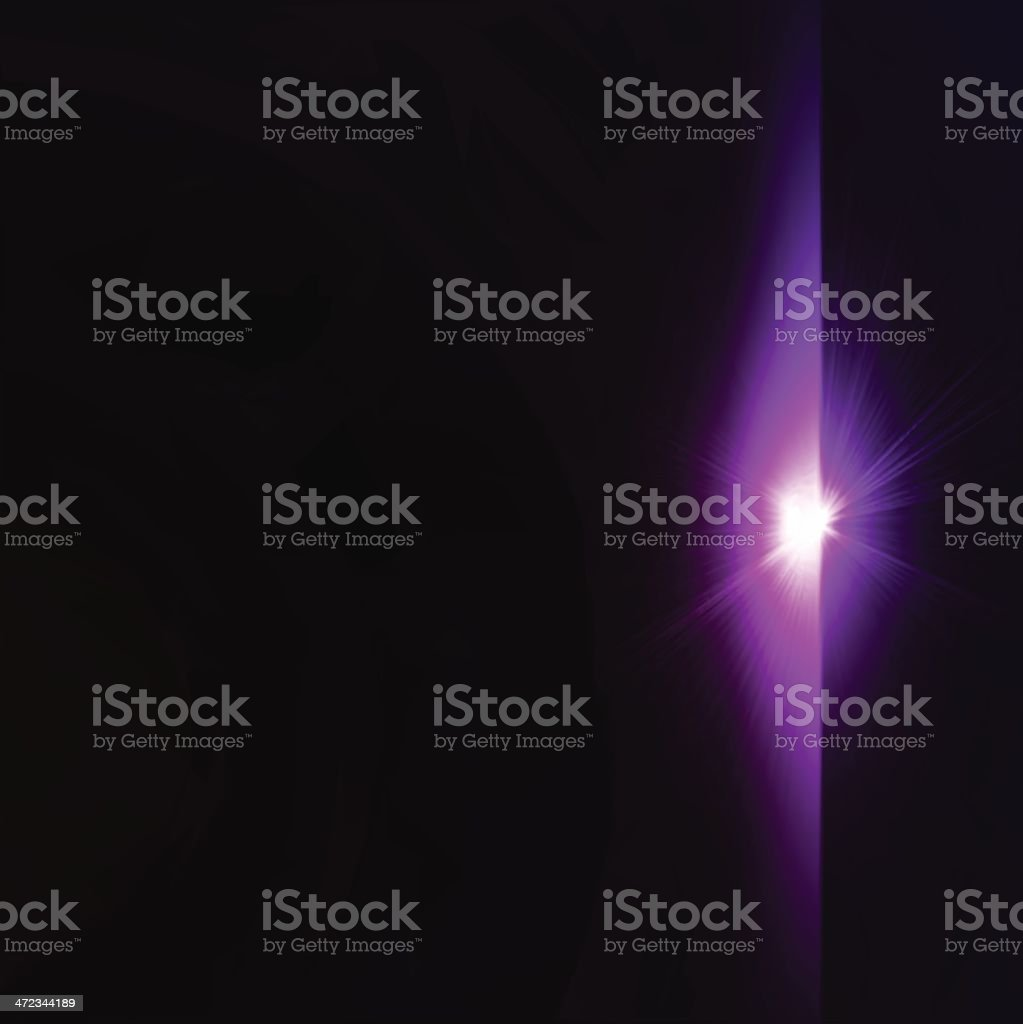 Star burst violet on black background. Vector royalty-free stock vector art