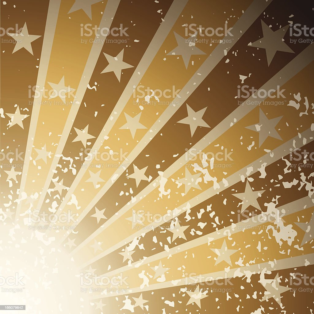 Star Burst with grunge effect royalty-free star burst with grunge effect stock vector art & more images of arts culture and entertainment