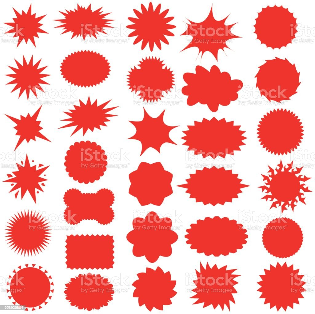 Star bursts or Sticky Stars or Badge, Sale Design or Icon - Illustration vector art illustration