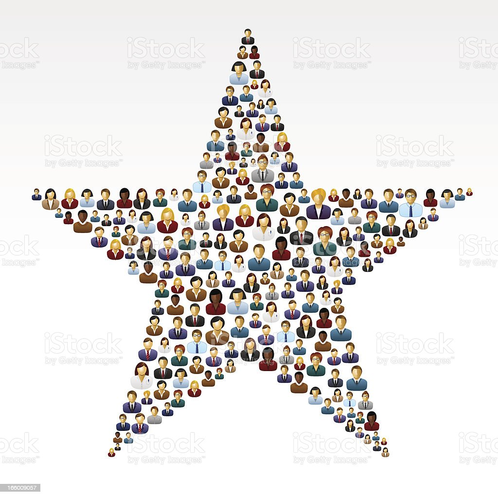 Star business people royalty-free stock vector art