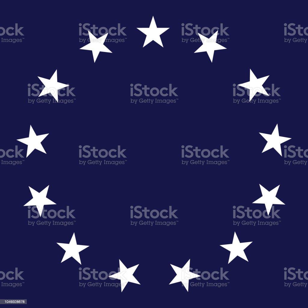 13 Star Circle Vector Illustration - Grafika wektorowa royalty-free (Elipsa)